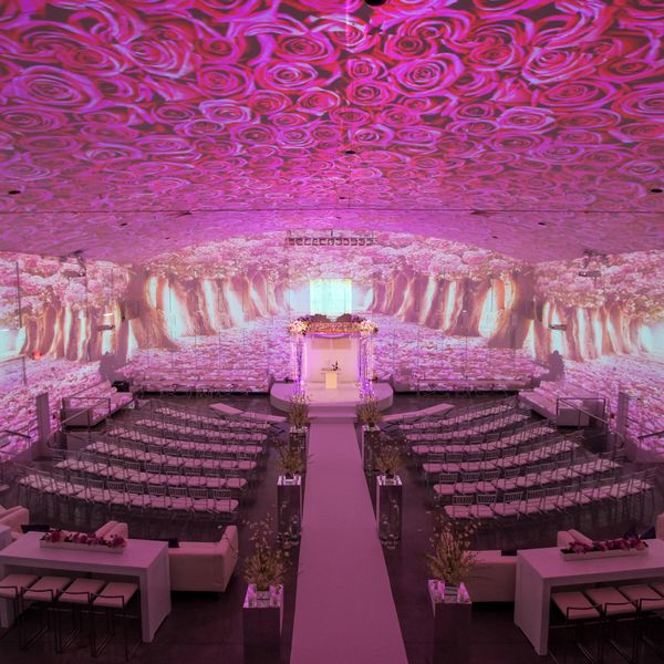 Wedding Ceremony with Projector