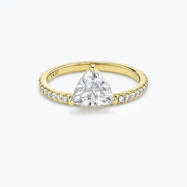 VRAI The Hover Solitaire Ring in 18k Yellow Gold