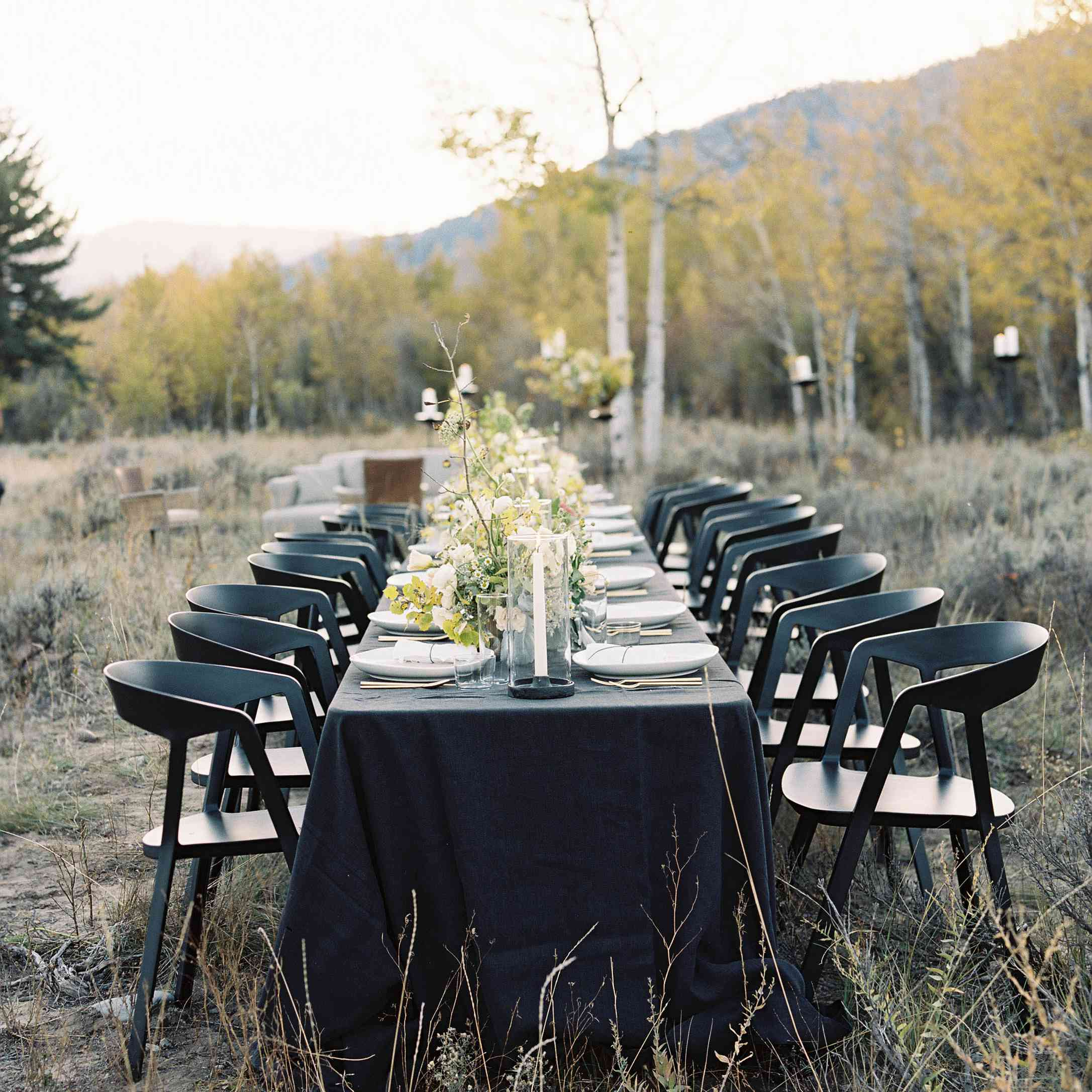 Trend Alert 23 Ways To Use Black Details In Your Wedding Decor