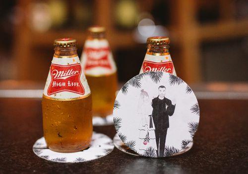 <p>beer coasters</p>