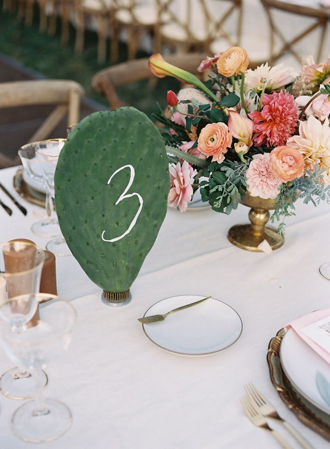 Cactus Paddle Table Numbers