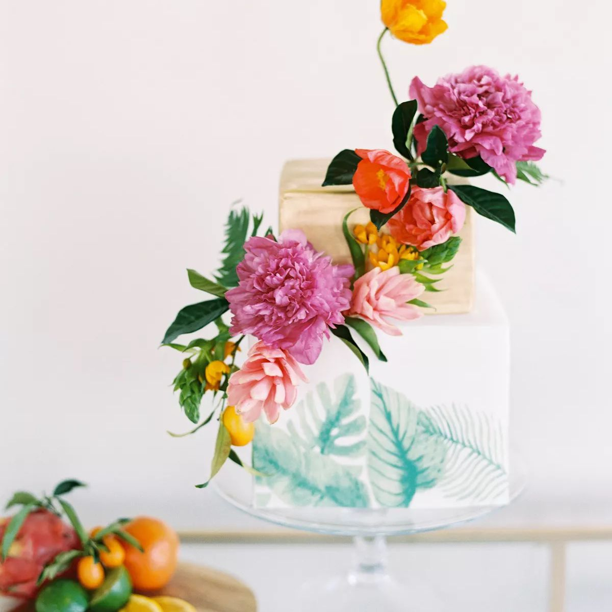 colorful tropical cake