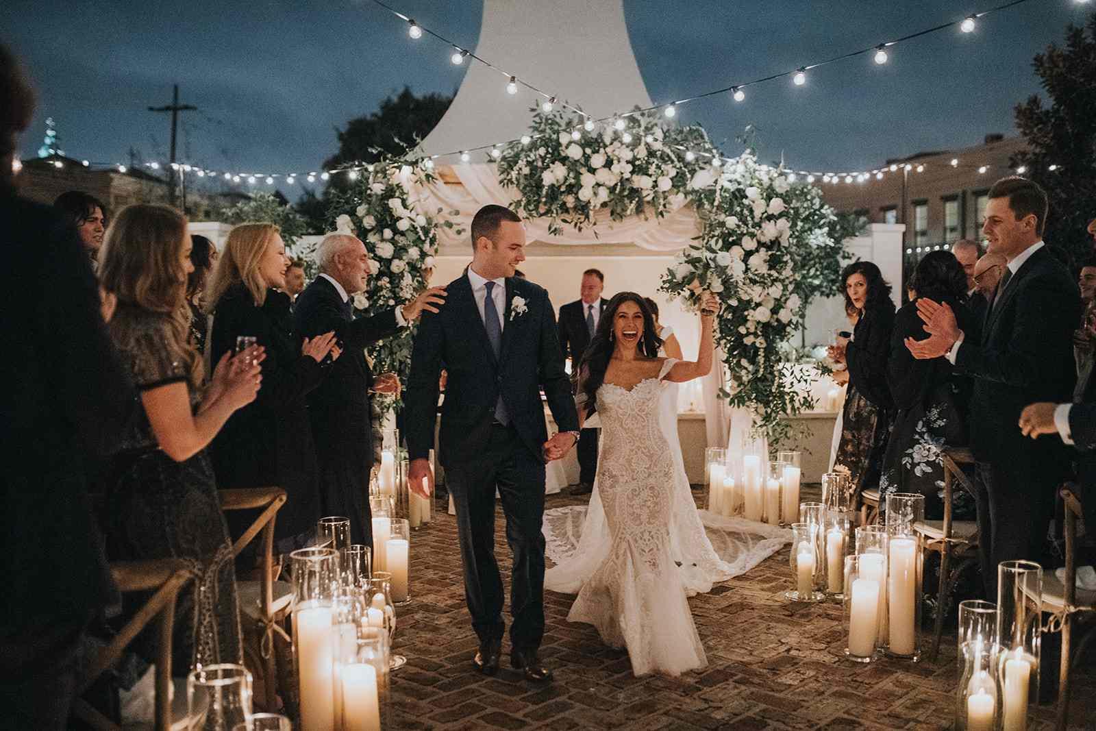 newlyweds exit ceremony