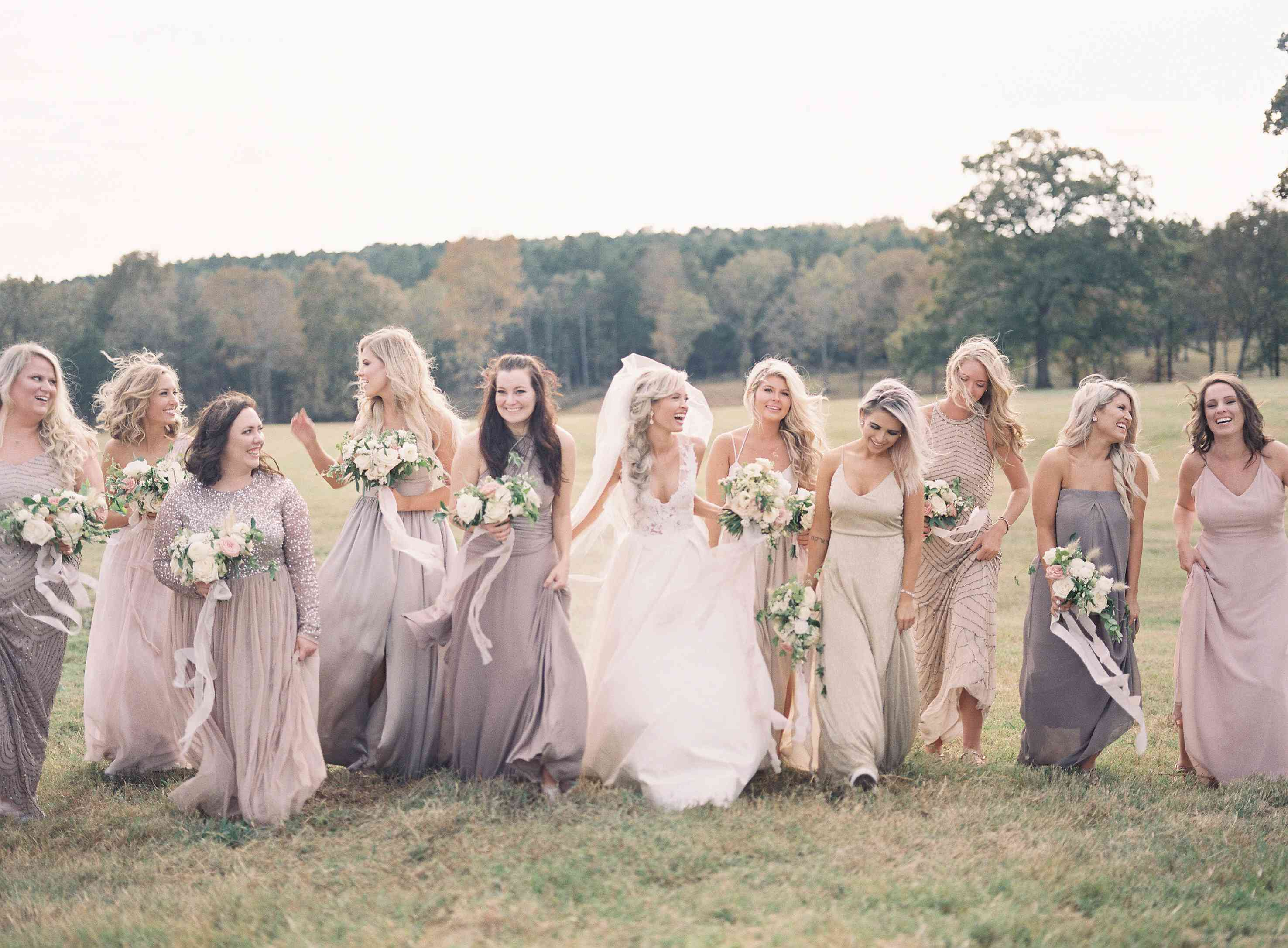 <p>Bride with bridesmaids</p><br><br>