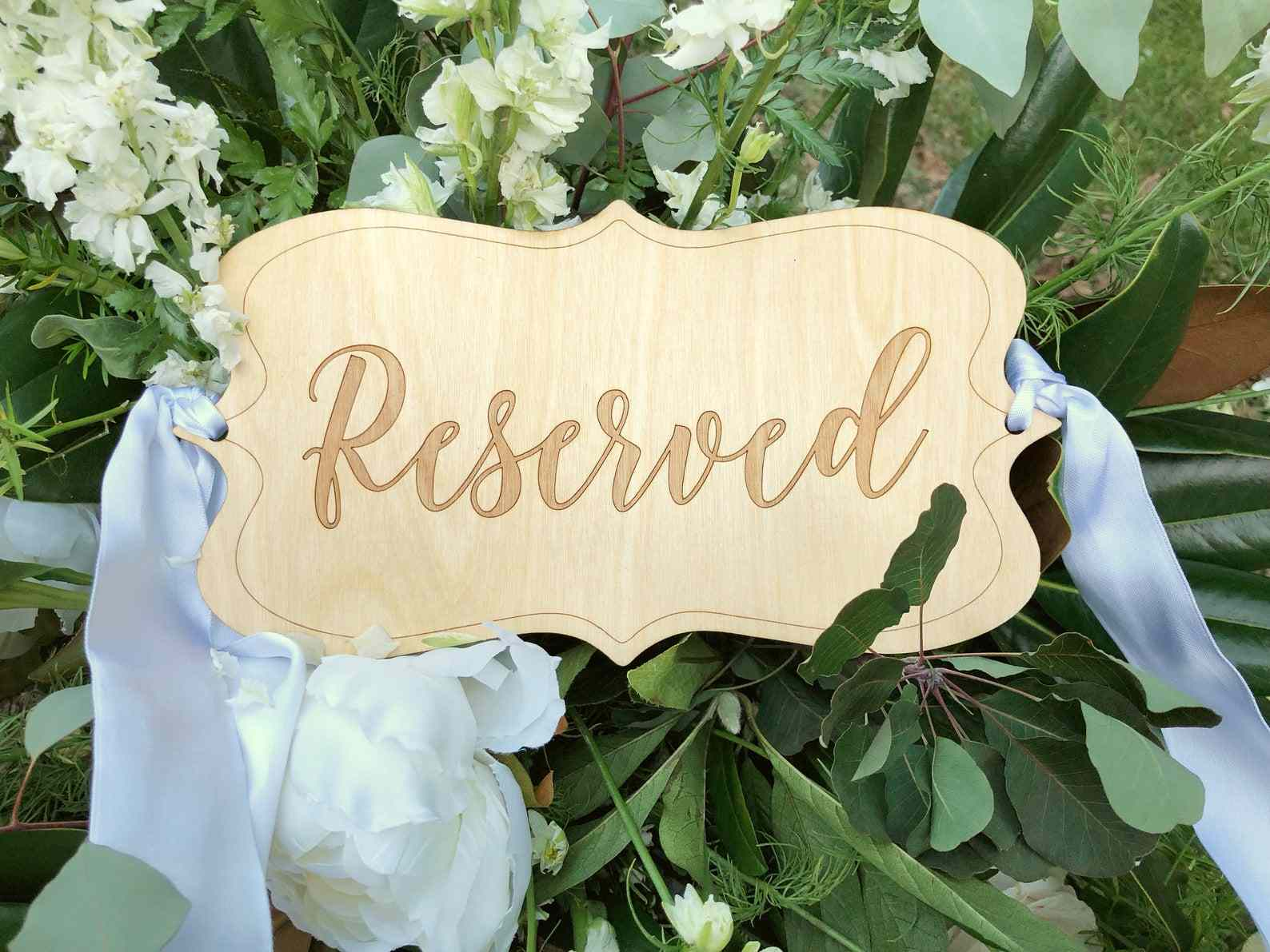 The Virginia Artisans Reserved Chair Sign