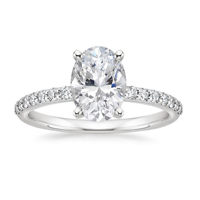 Brilliant Earth Petite Shared Prong Diamond Engagement Ring