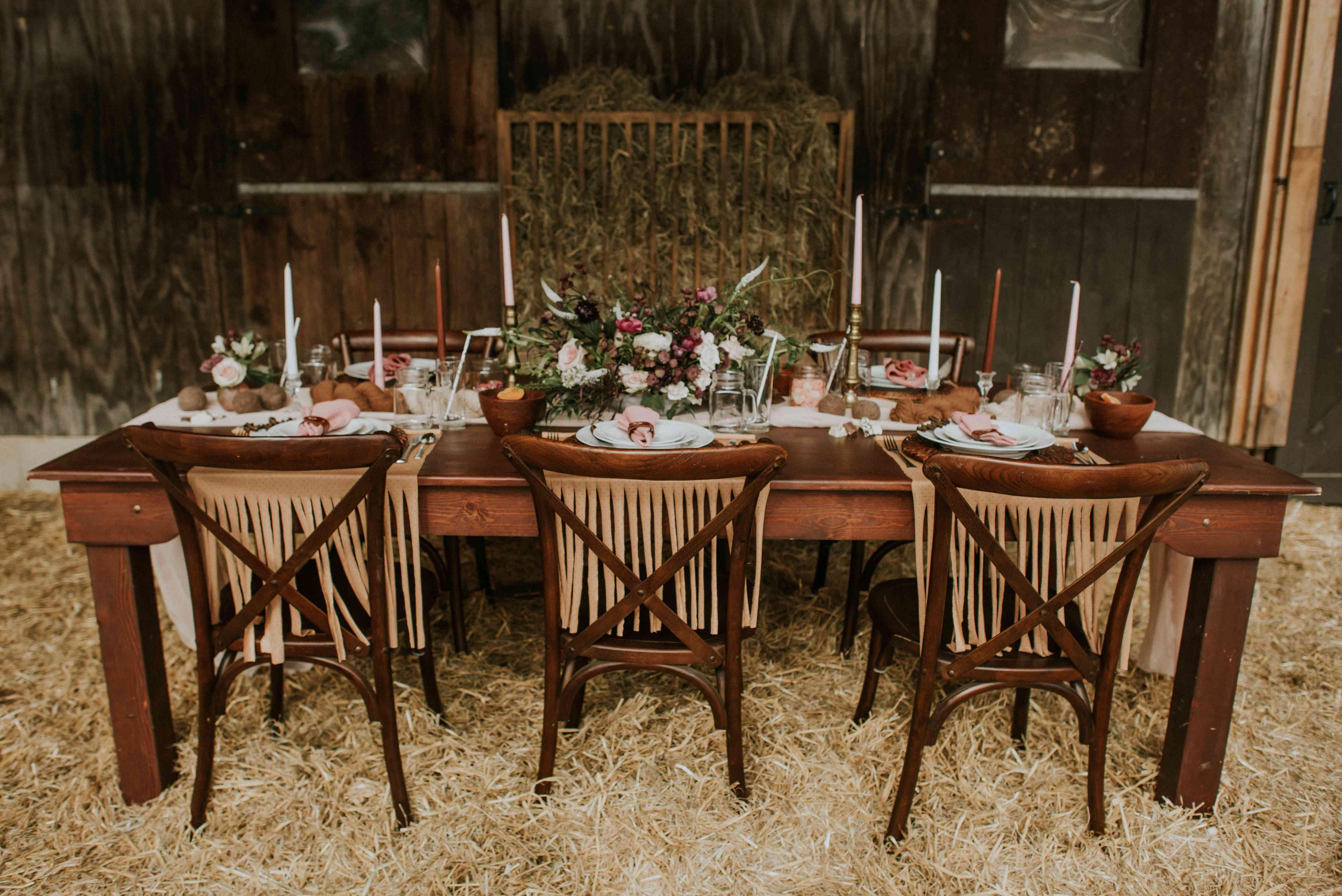 Barn inspired table setting