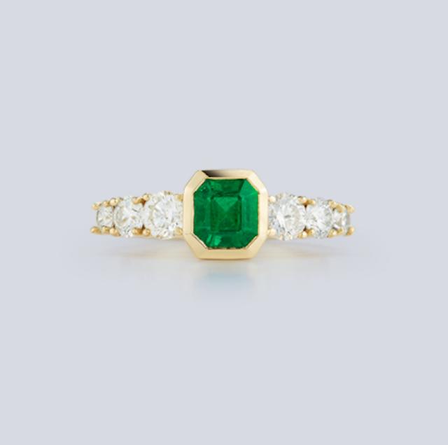 Jemma Wynne Toujours Emerald and Diamond Ring