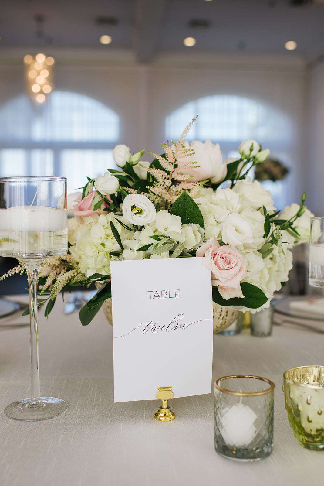 Table number with calligraphy