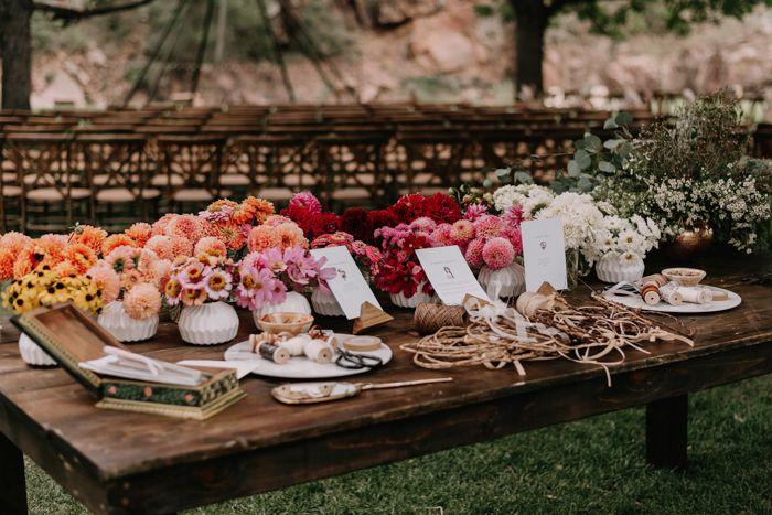 wedding entertainment flower crown bar