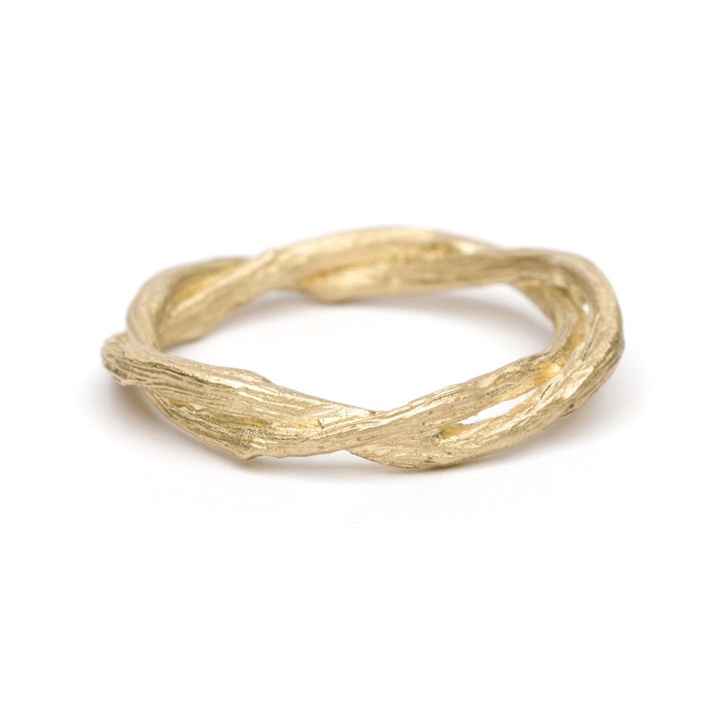 Sofia Kaman Gold Textured Branch Ring