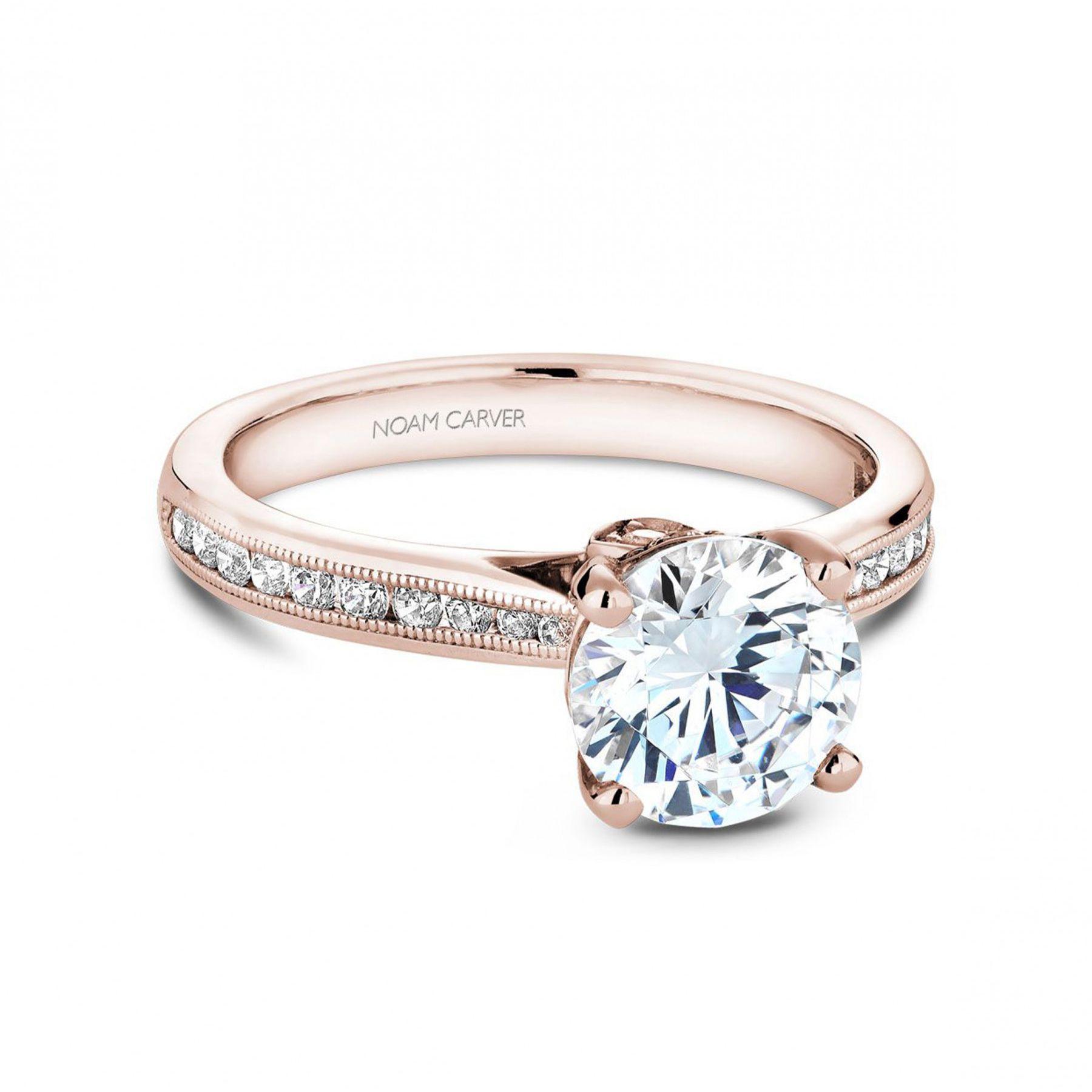 J.R. Dunn Noam Carver Round Channel-Set Engagement Ring Setting