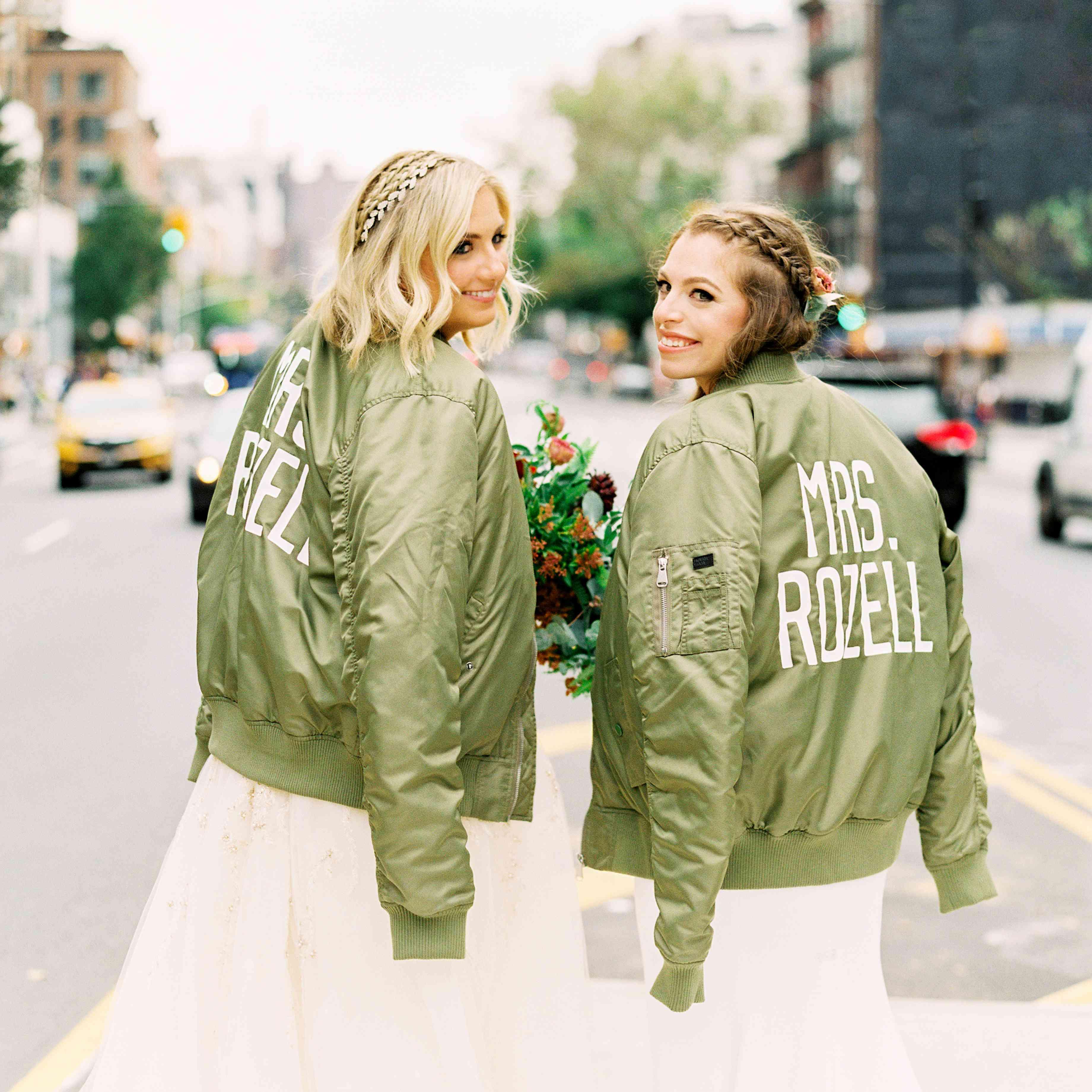matching wedding bomber jackets