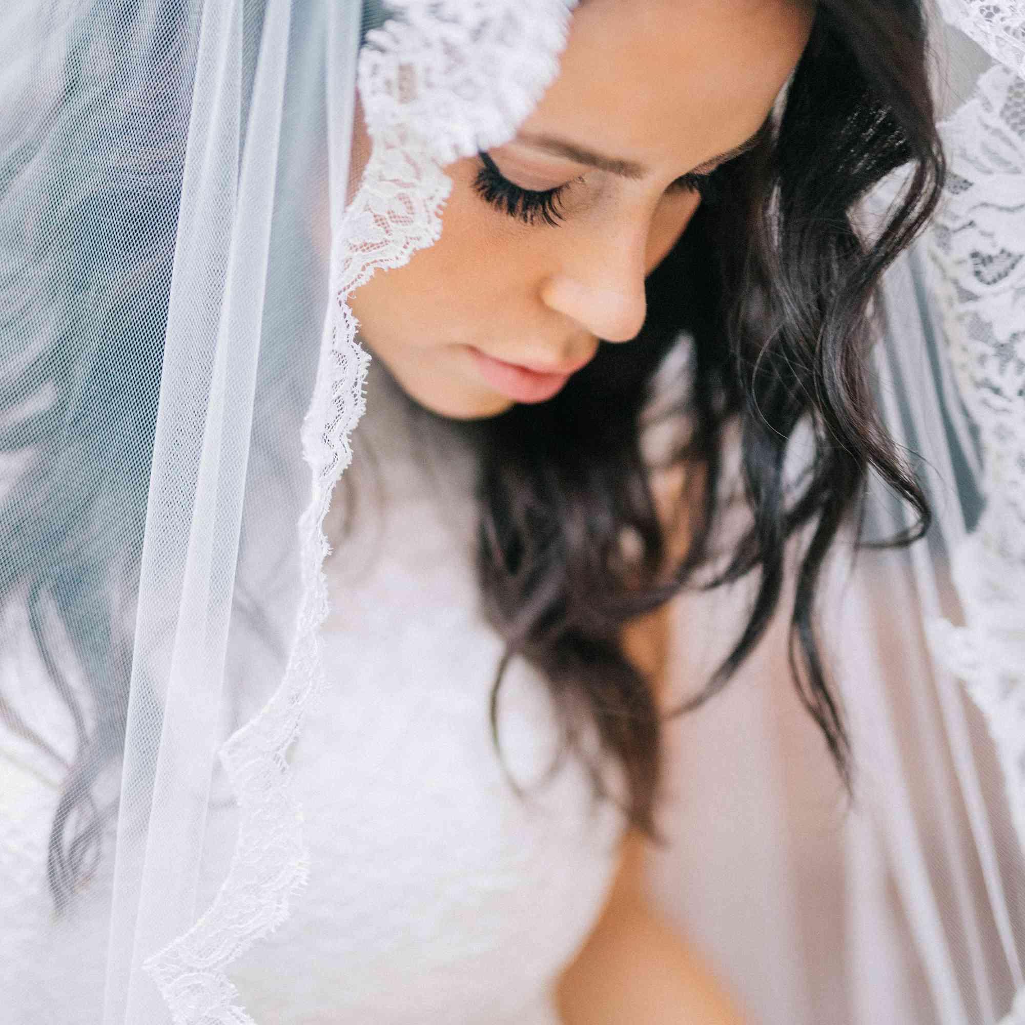 Shot of bride in veil