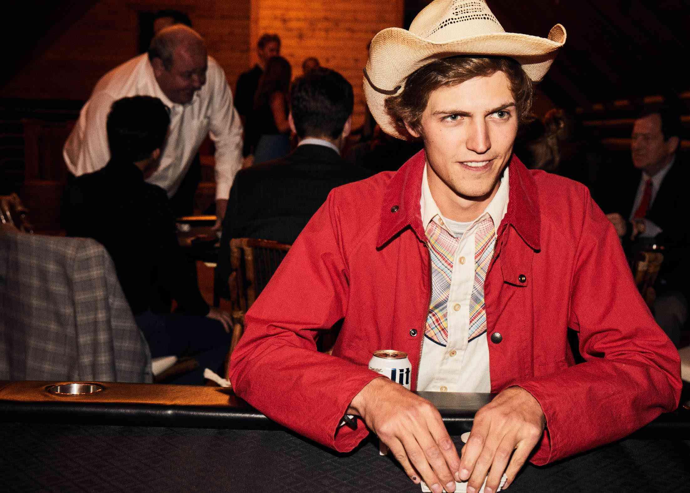 Guest in cowboy hat
