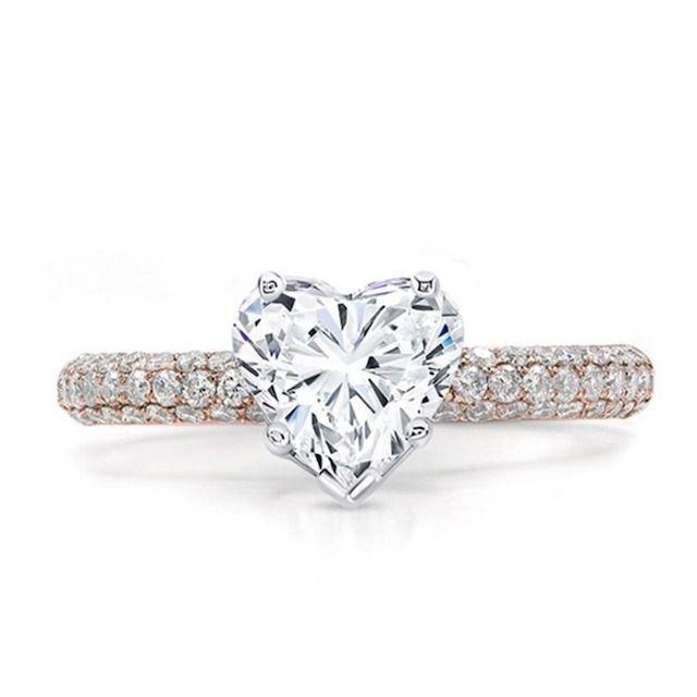 Adiamor Micro Pave Diamond Engagement Ring