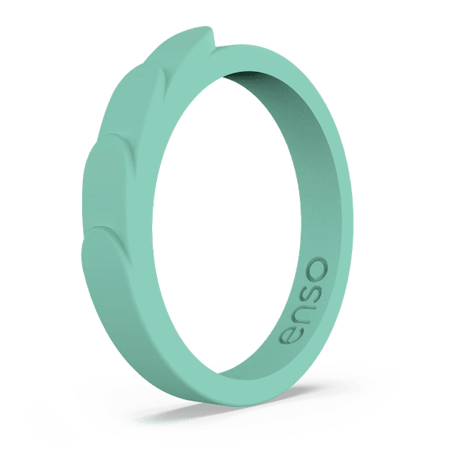 Enso Feather Silicone Ring in Shamrock