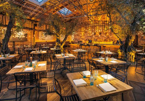 herringbone dining room
