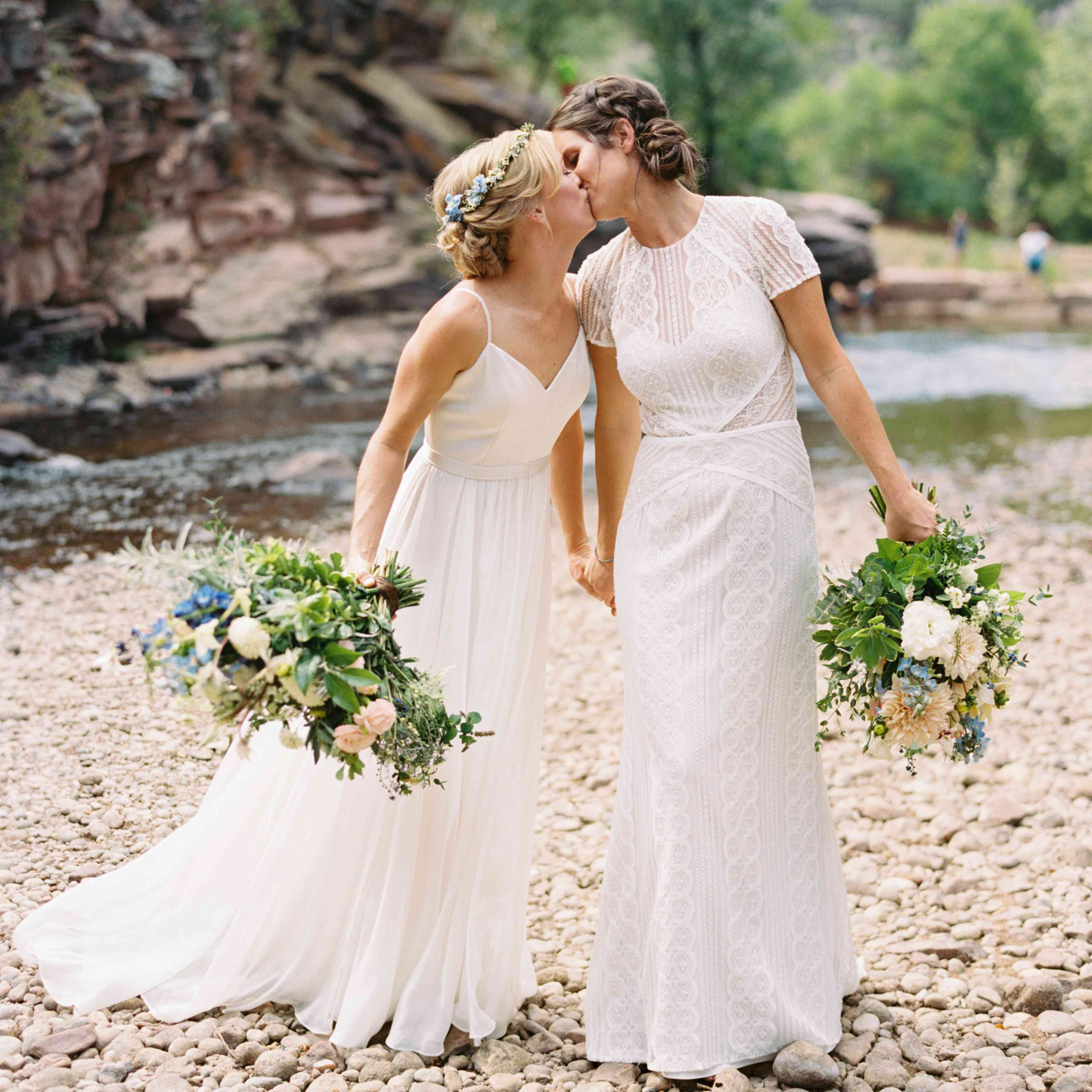 Gallery Prettiest Real Bride Wedding Hairstyles: 39 Same-Sex Wedding Photos That Will Give You All The