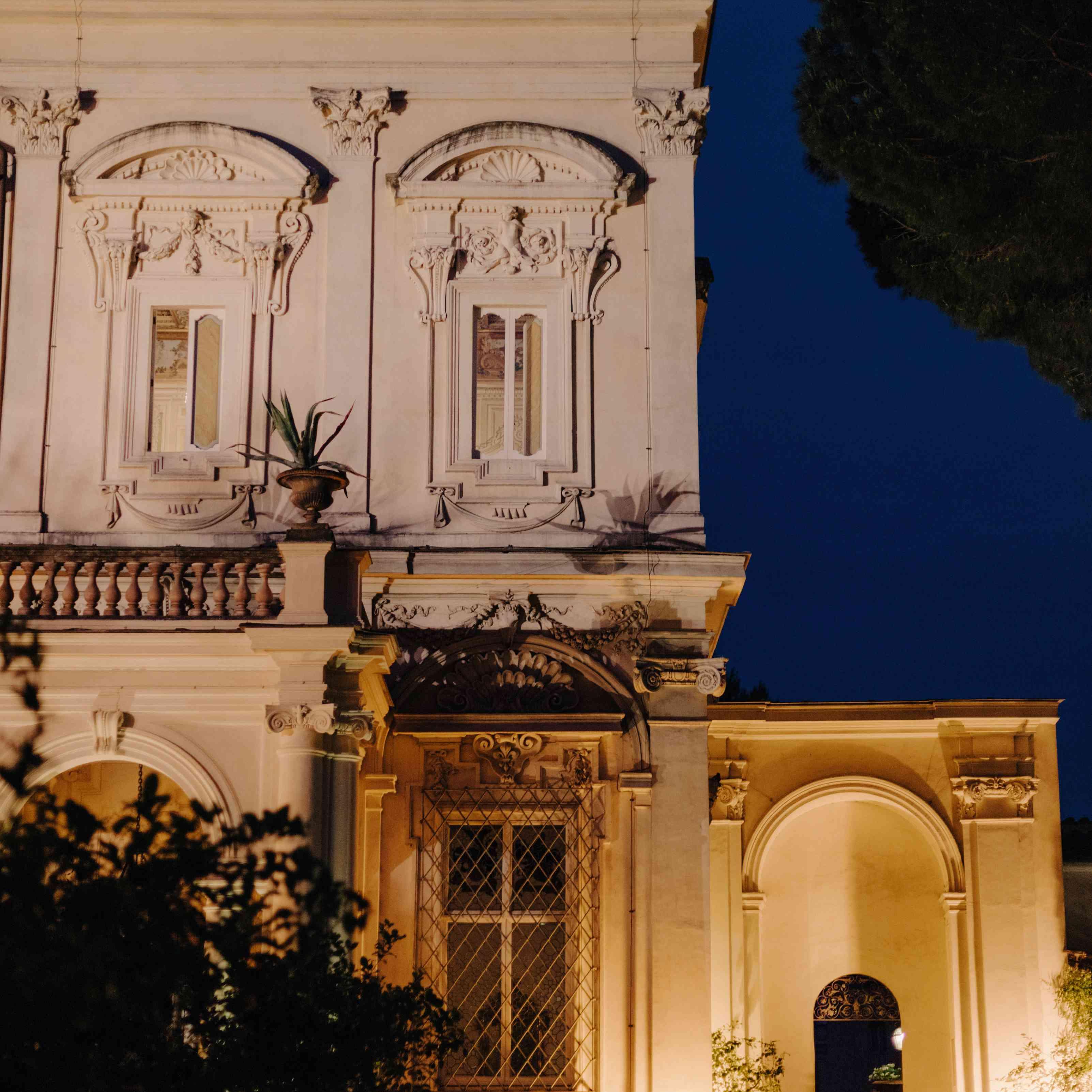 Villa Aurelia at Night