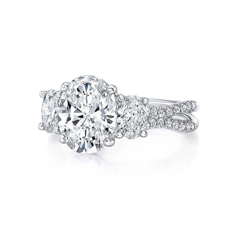 Uneek Oval-Cut Diamond Engagement Ring