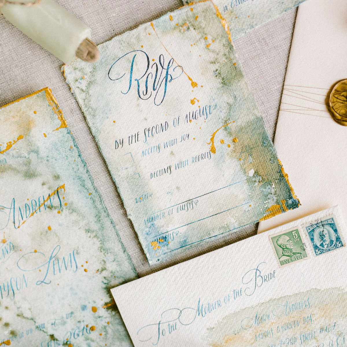 RSVP wedding invitation