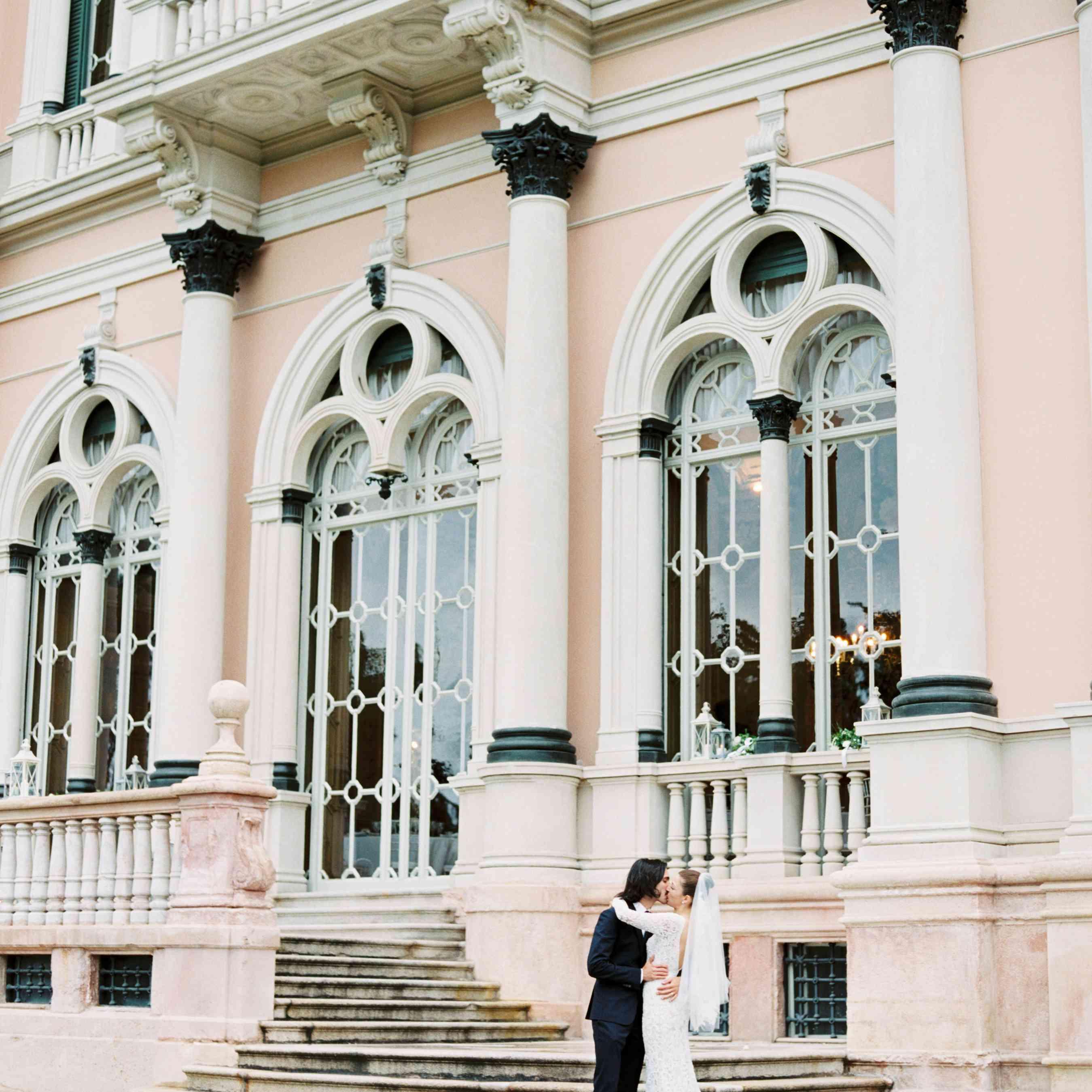 Northern Italian Wedding, Bride and Groom Portrait