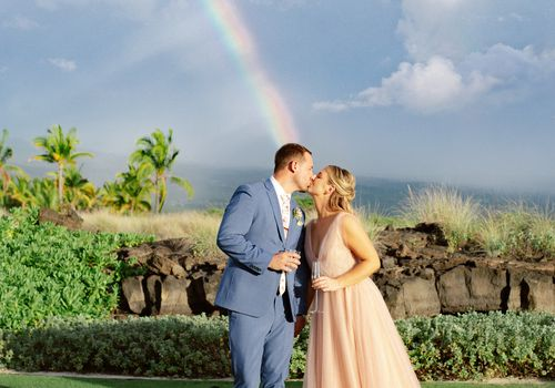 Tyler Wilder and Caitlin Mouton were married at Kohanaiki on Hawaii's Big Island.