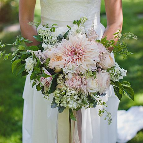 A pale pink bouquet