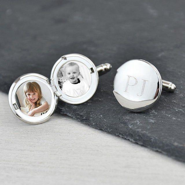 Monogrammed Personalized Engraved Locket Cufflinks