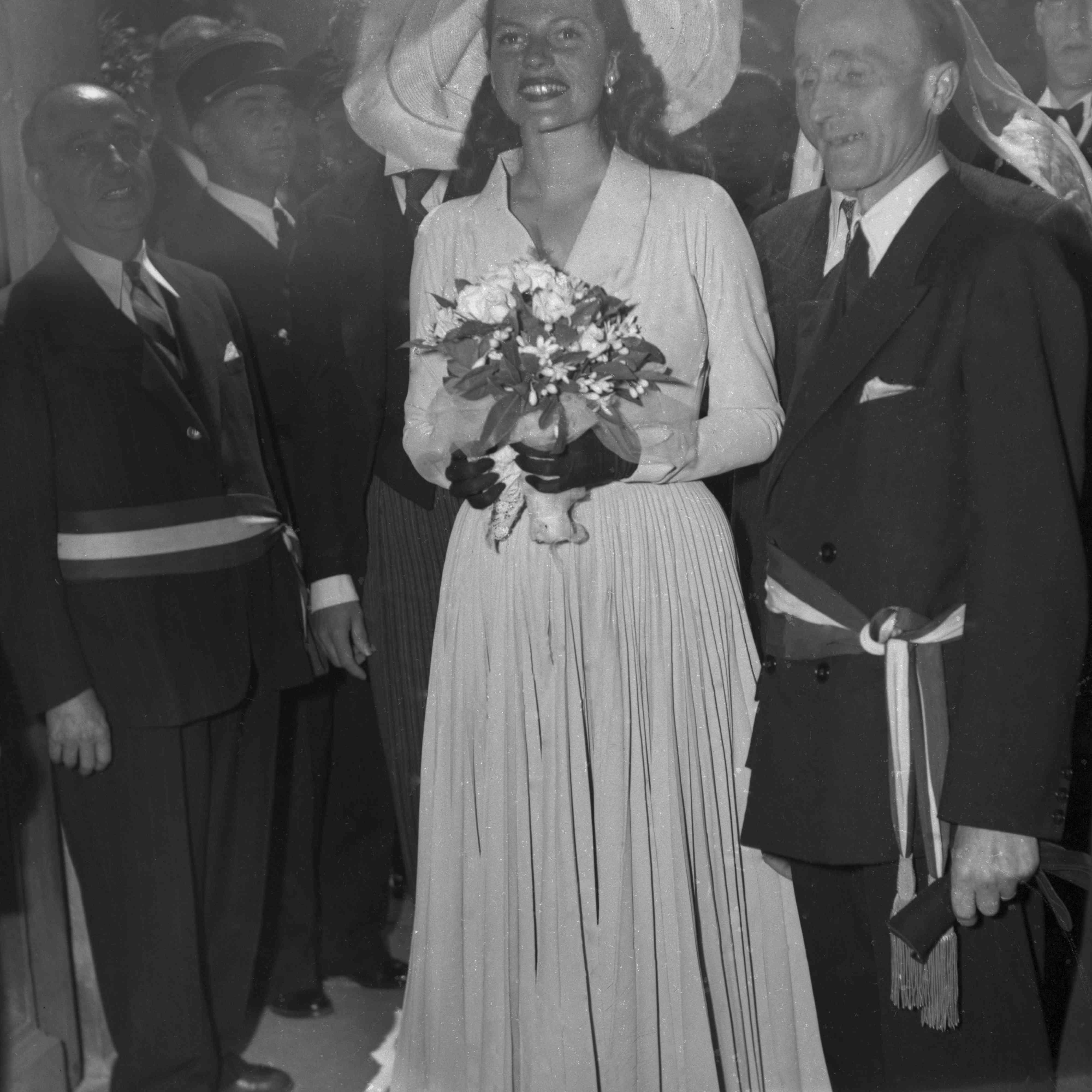 Rita Hayworth at her wedding
