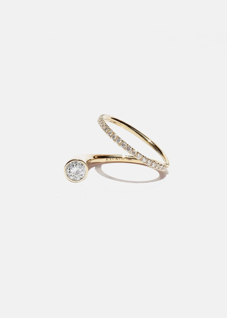 Delicate modern engagement ring