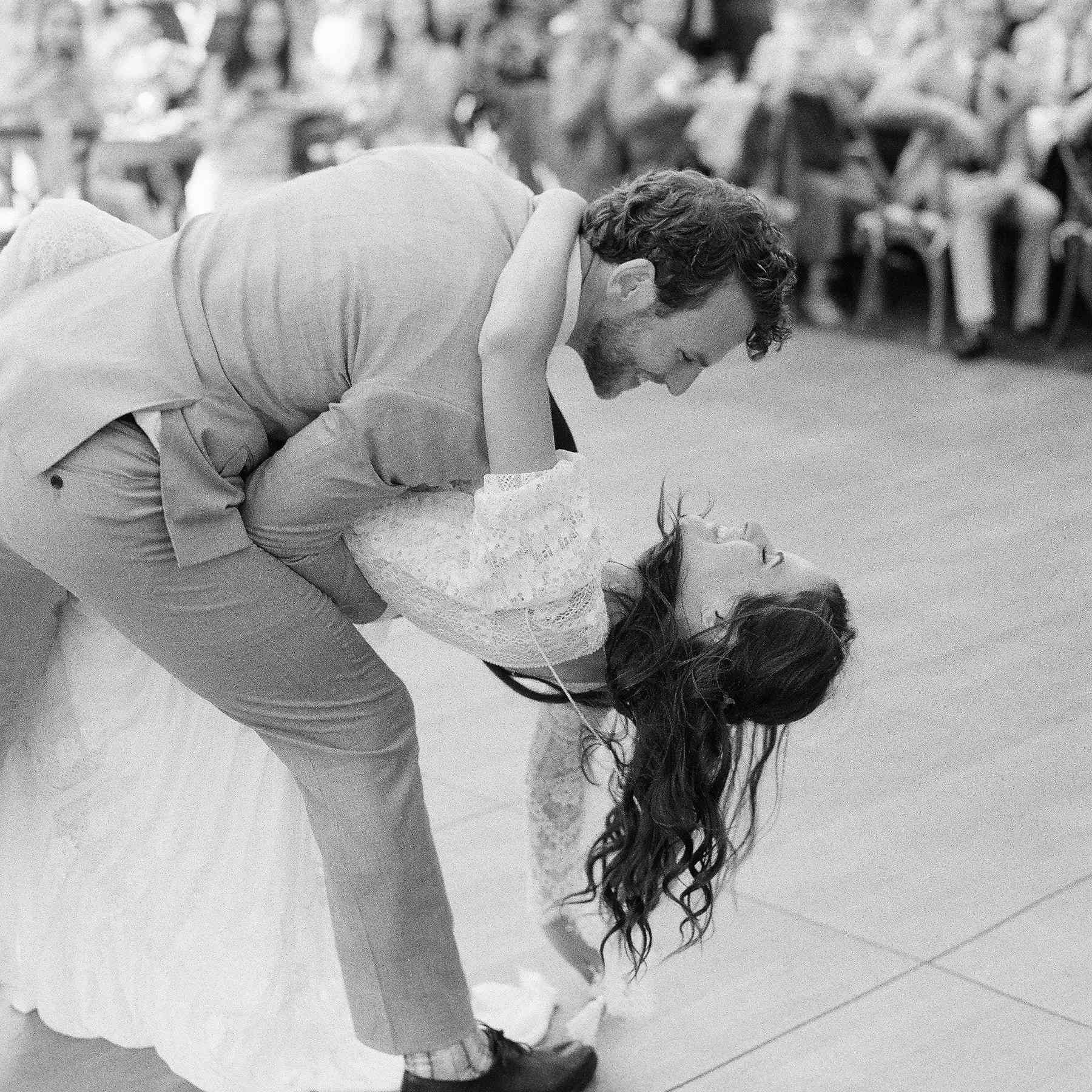 <p>Bride and groom dancing</p><br><br>