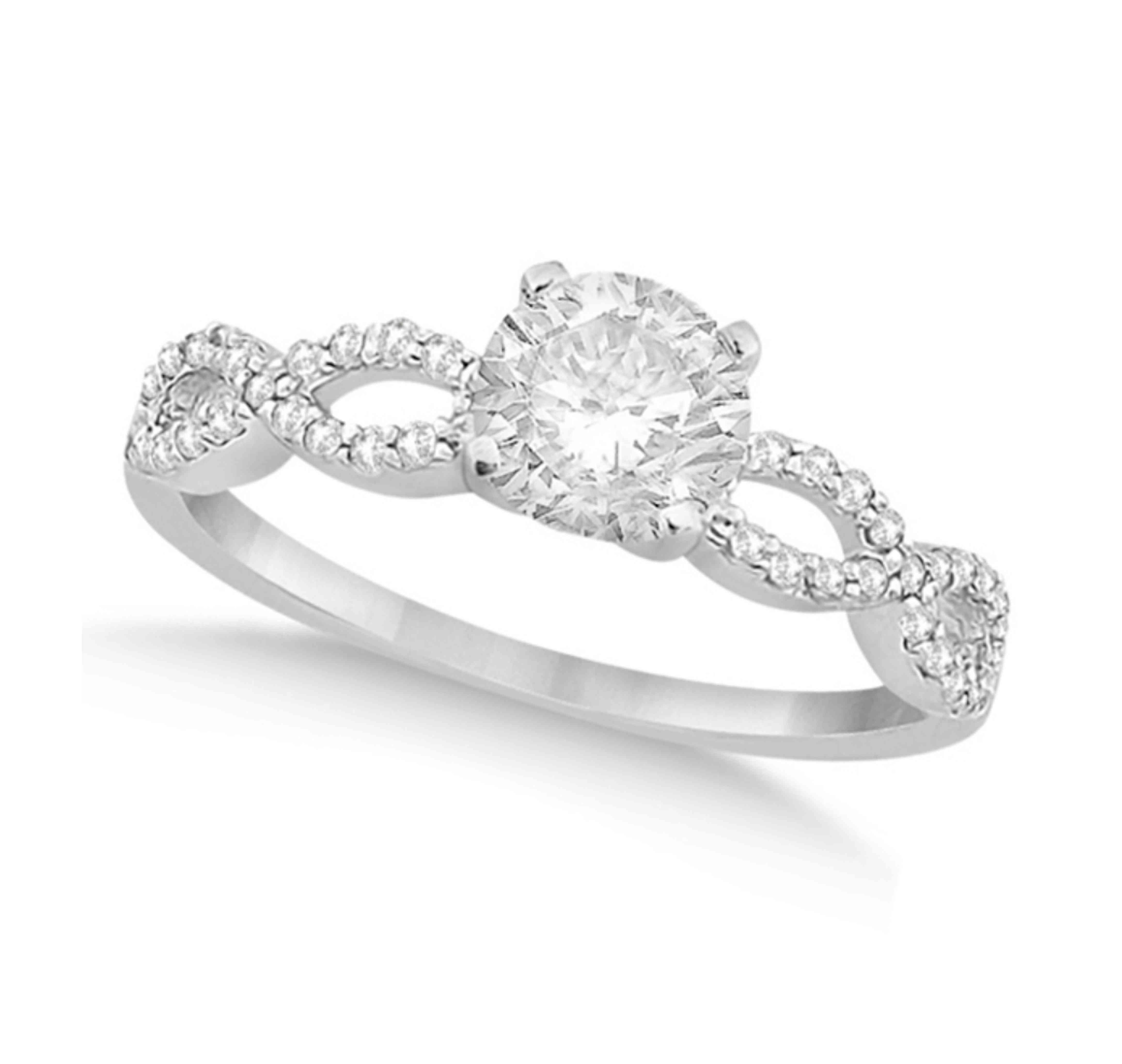 Allurez Twisted Infinity Round Diamond Engagement Ring