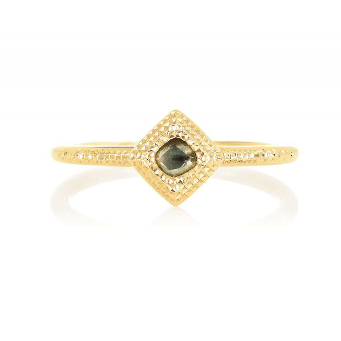 TALISMAN YELLOW GOLD ROUGH DIAMOND RING