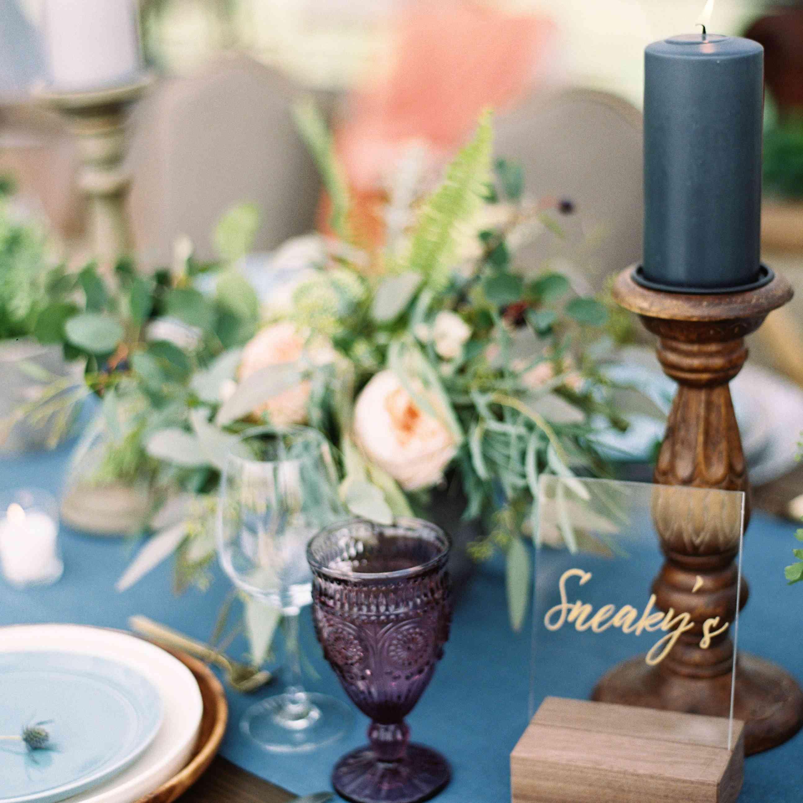 Cornflower reception table