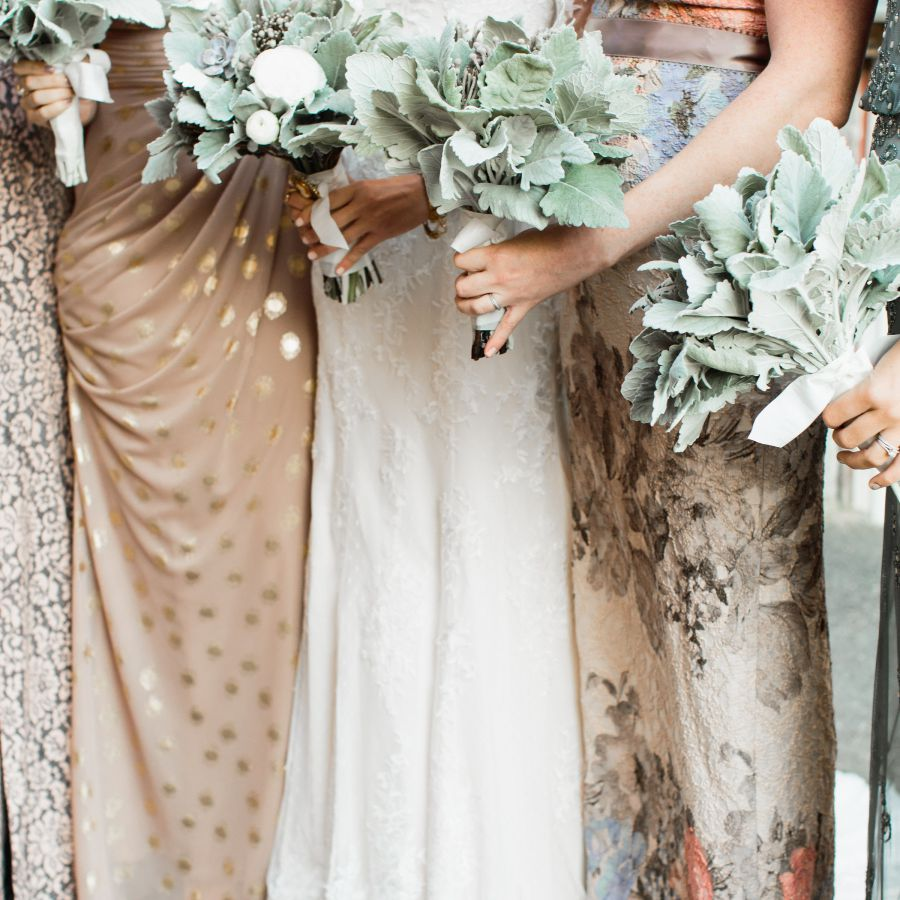 dusty miller bouquets