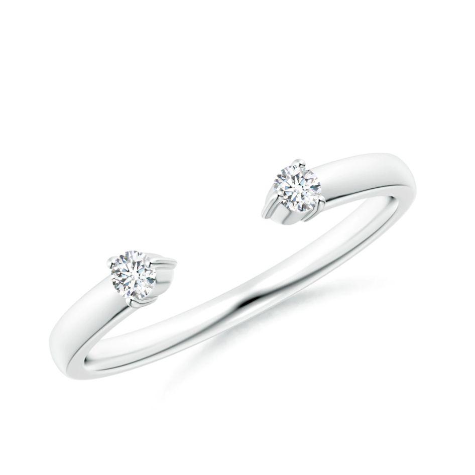 Angara Two-Stone Diamond Open Ring