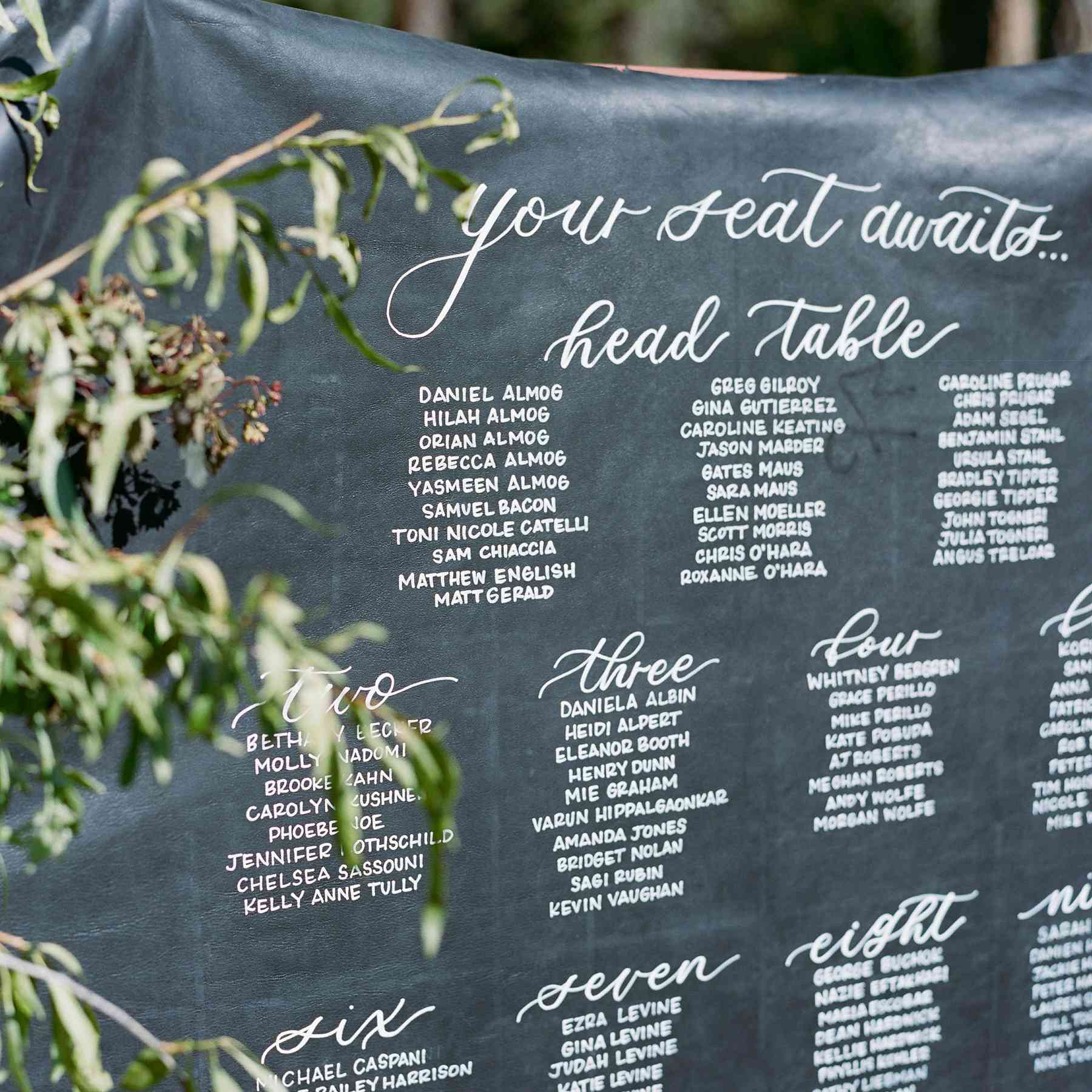 Outdoor Wedding Seating Ideas: These Creative Wedding Seating Chart Ideas Will Seriously