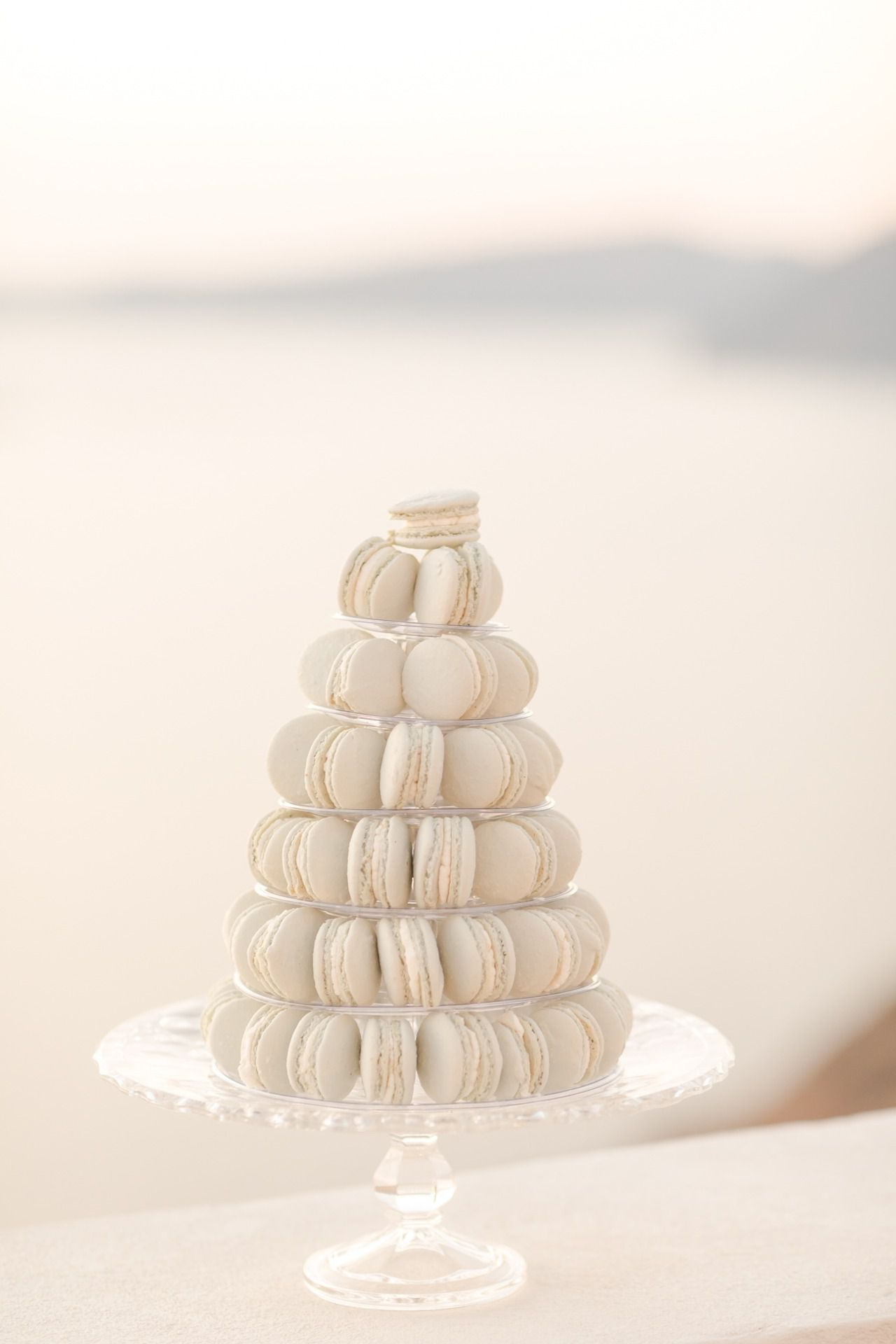 Neutral macaron tower