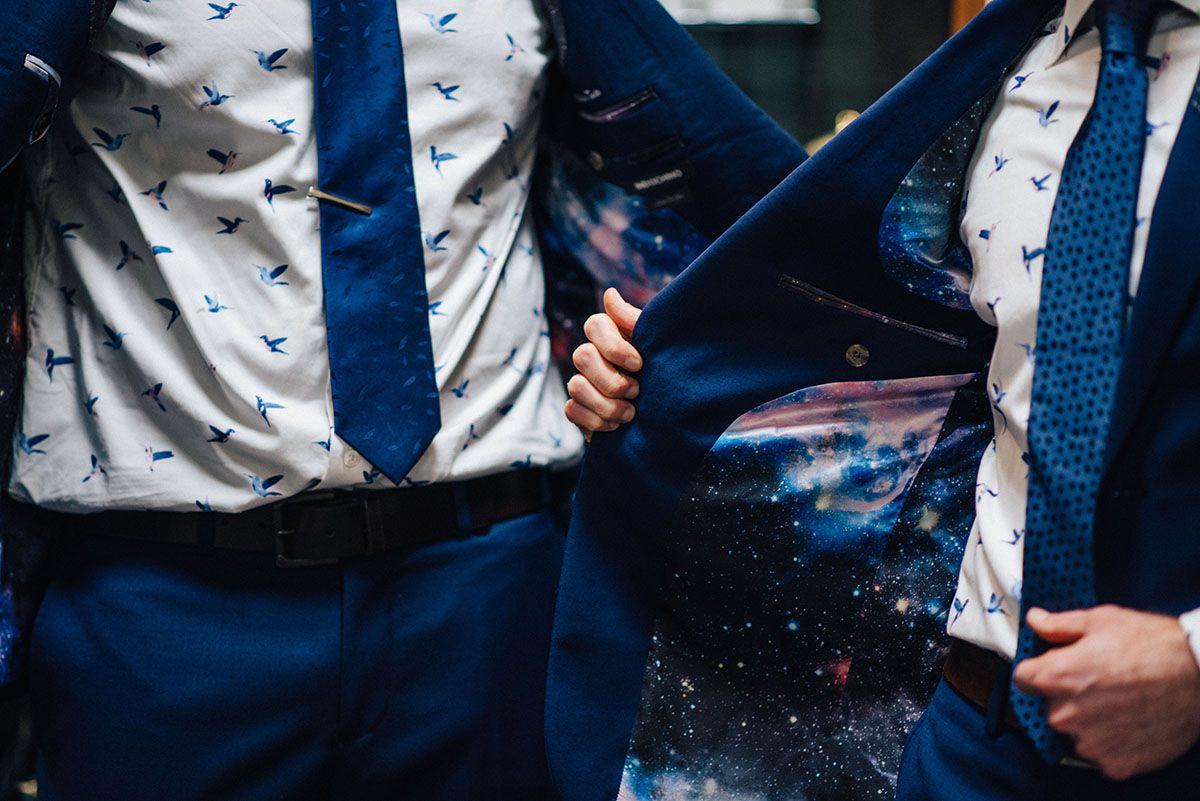 Grooms' wedding suits