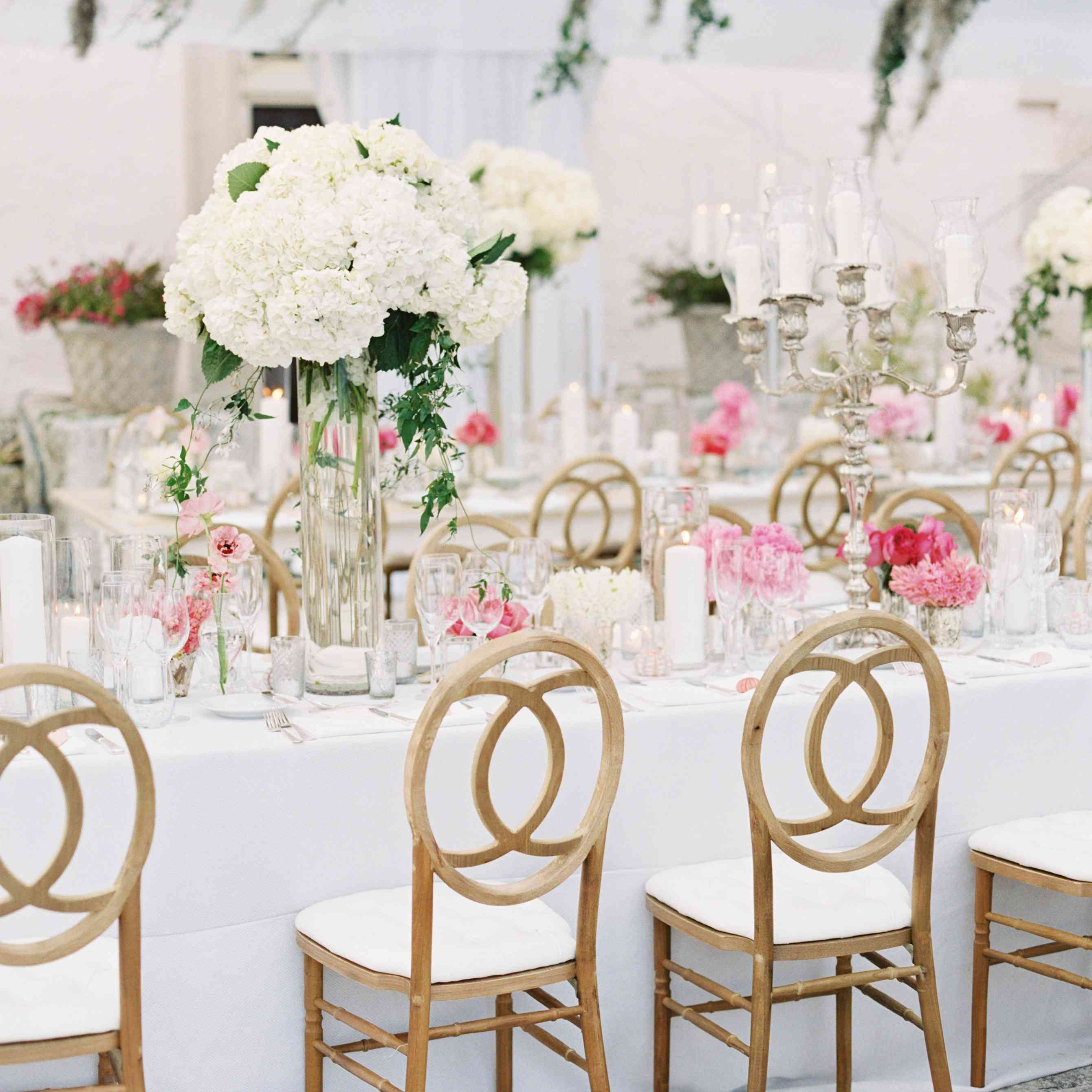 Tall White Flower Centerpieces