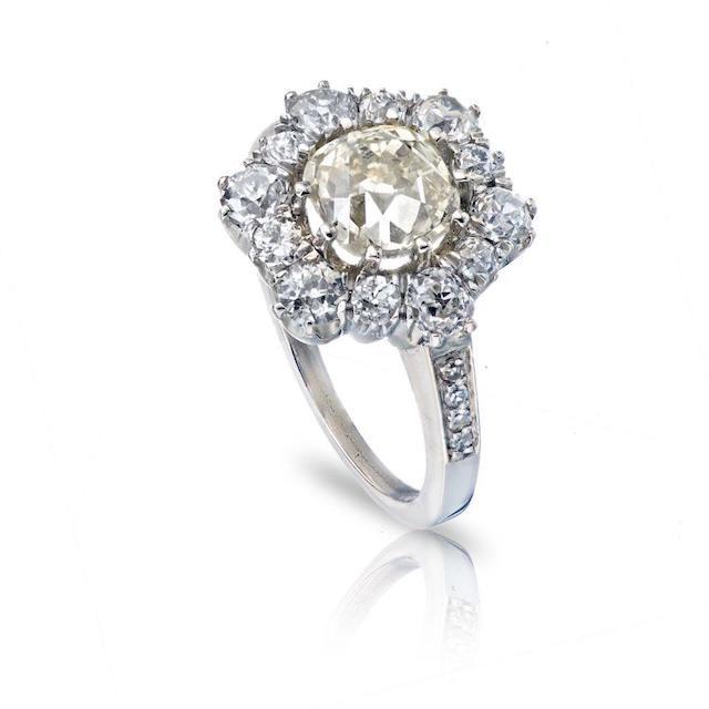 The Back Vault Old European Cut Diamond Ring