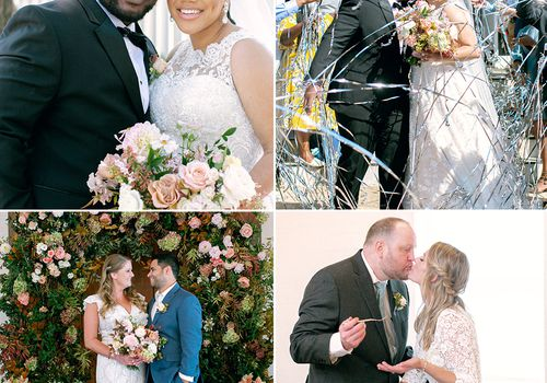 micro wedding couples