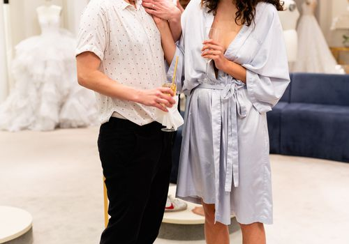 hannah hart dress shopping, couple