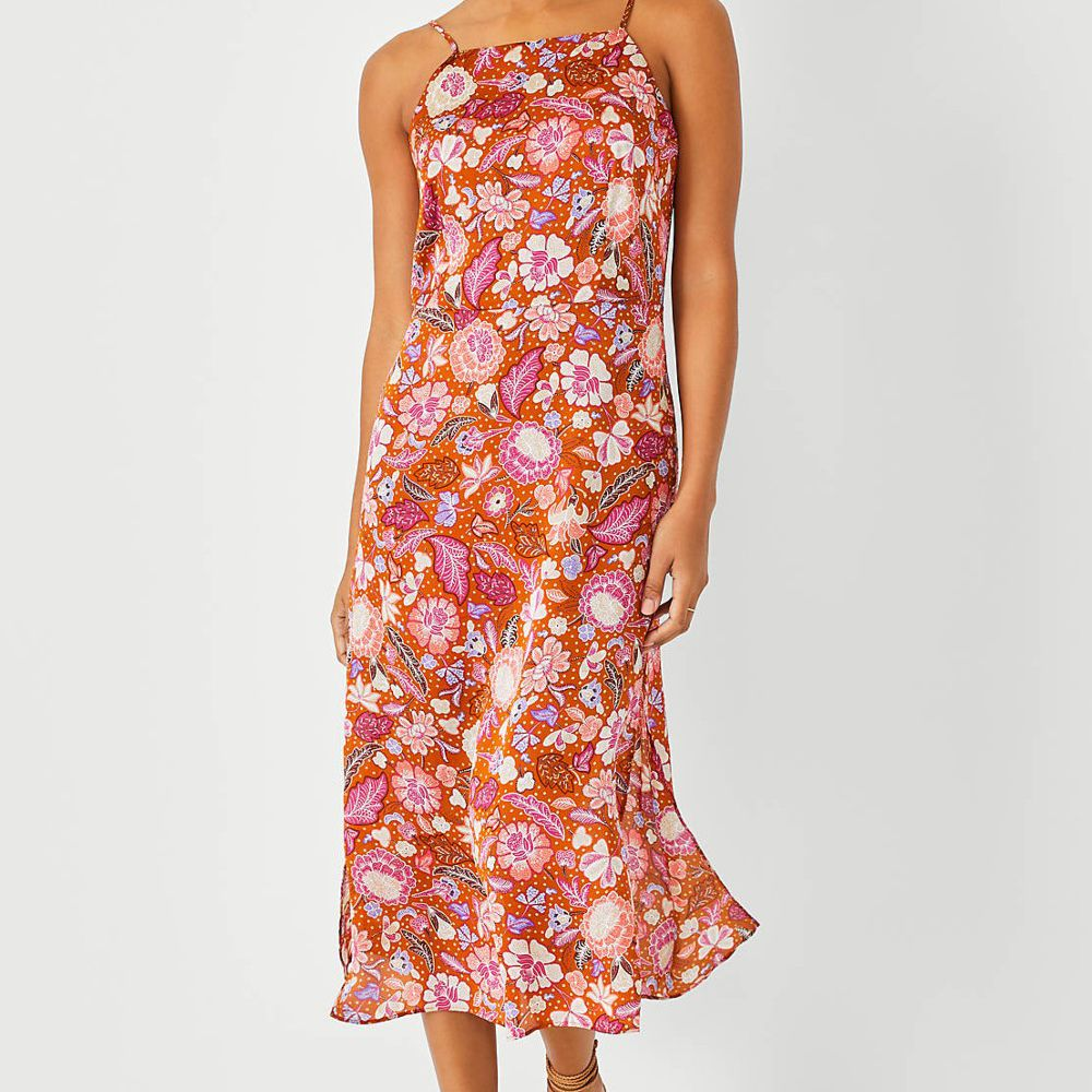 floral colorful dress