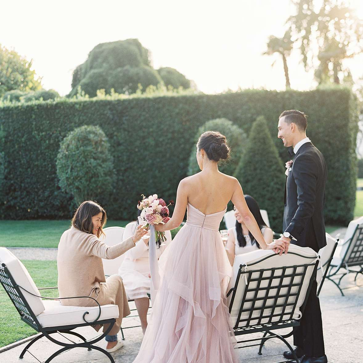 couple with guests