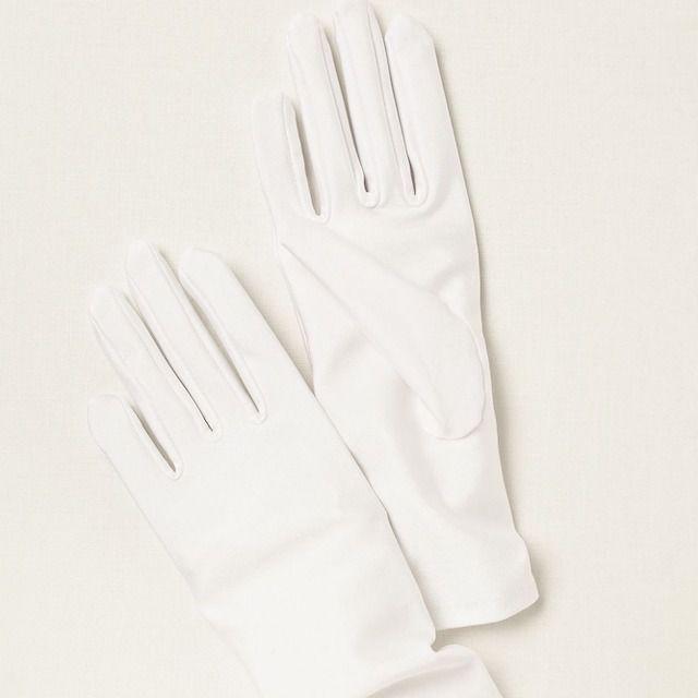 David's Bridal Lea Matte Satin Wrist-Length Gloves