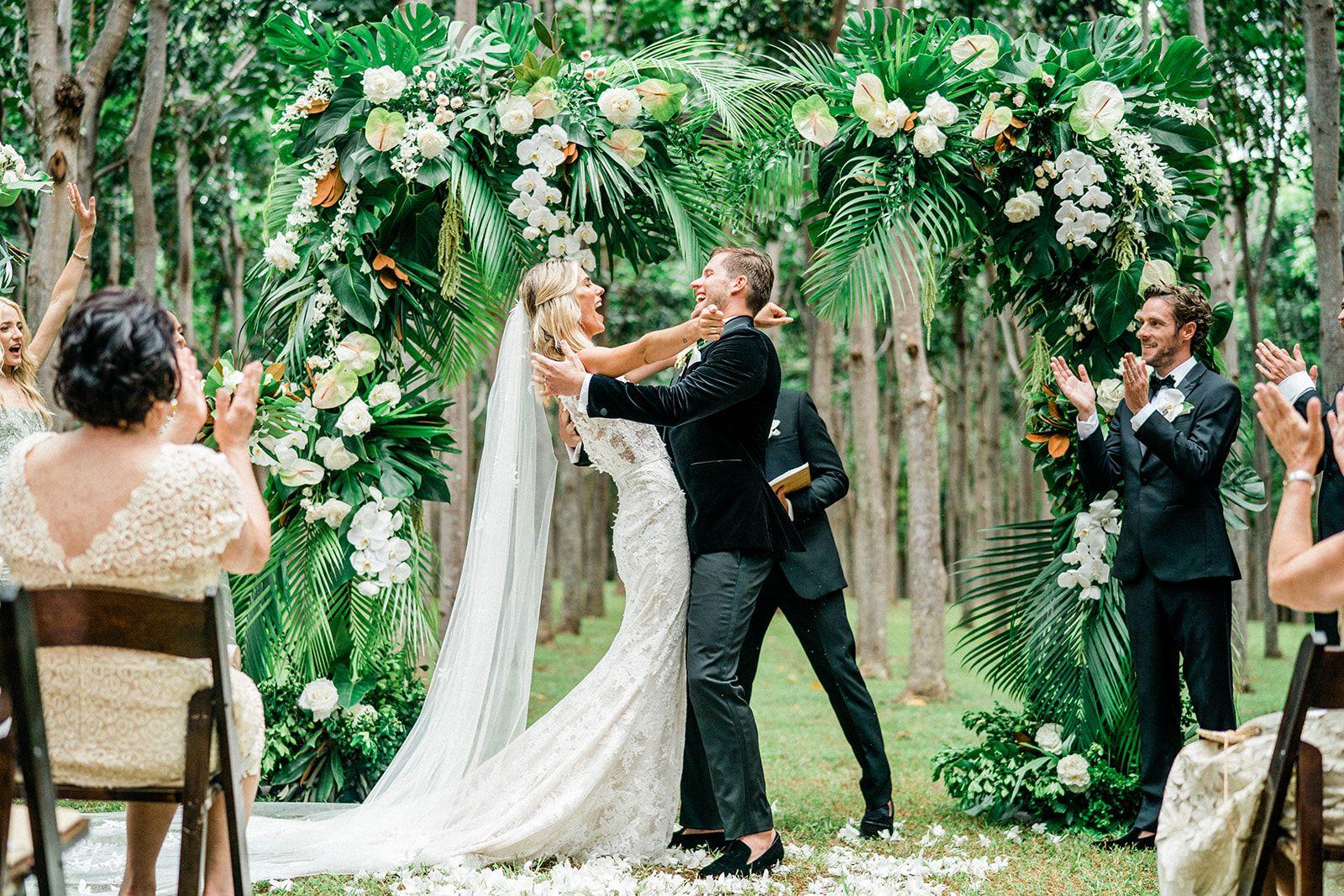 An Island Inspired Wedding At Na Aina Kai Botanical Gardens On Kauai