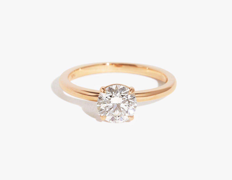 14k Diamond Wedding Ring White Gold or Rose Gold Minimalist Diamond Ring Available in 14k Gold Diamond Engagement Band